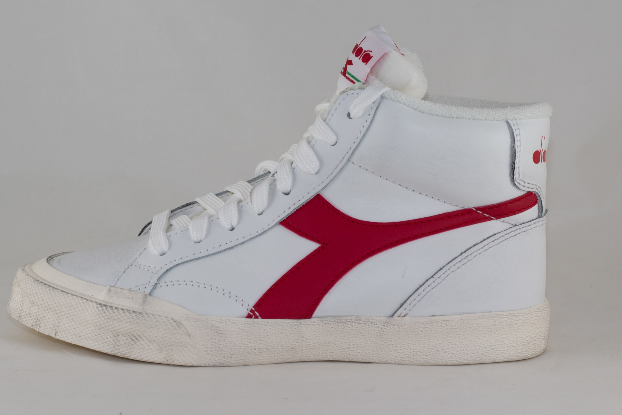 DIADORA MELODY MID LEATHER DIRTY White/ Tango Red
