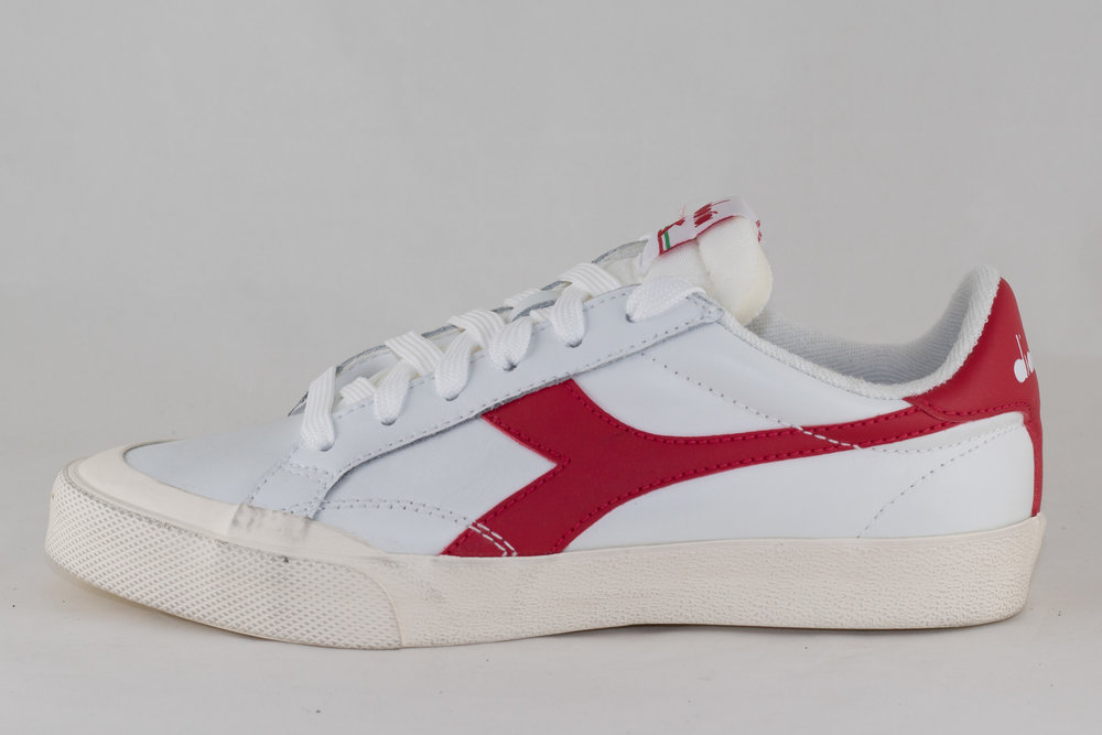 DIADORA DIADORA MELODY LEATHER DIRTY White/ Tango Red