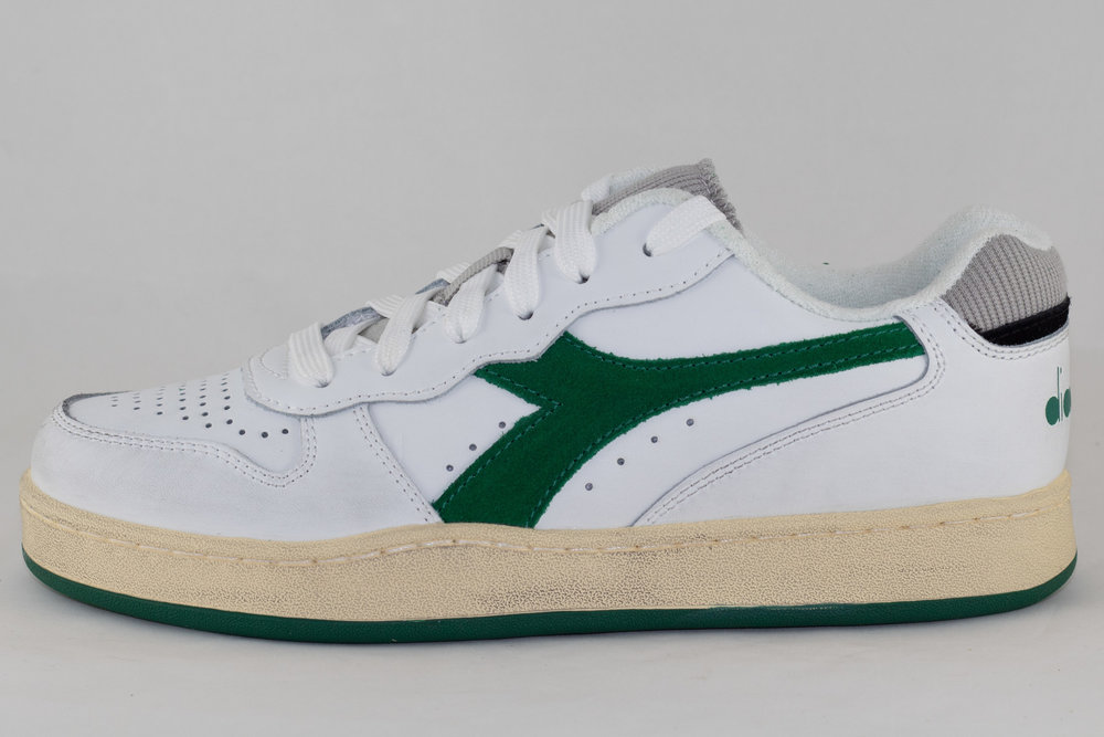 DIADORA DIADORA MI BASKET LOW USED White/ Verdant Green