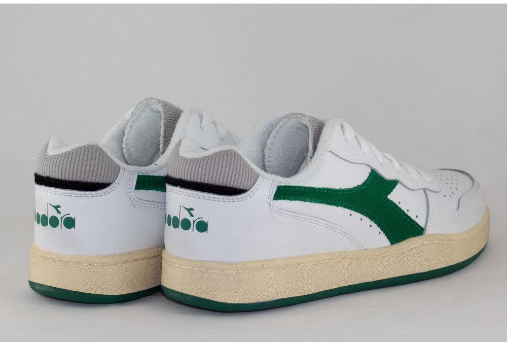 DIADORA MI BASKET LOW USED White/ Verdant Green