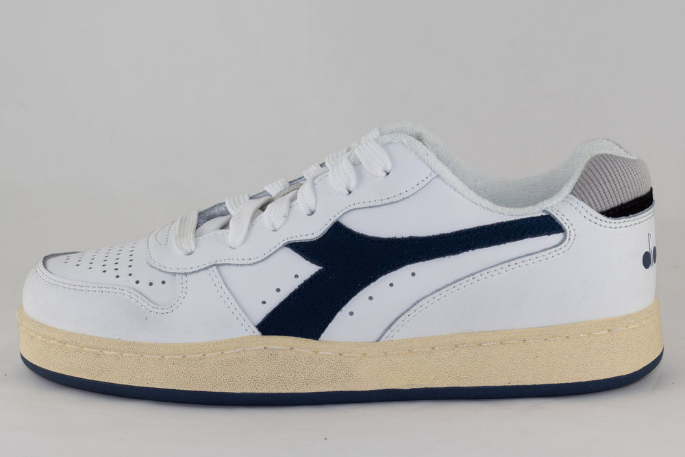 DIADORA DIADORA MI BASKET LOW USED White/ Blue Dark Denim