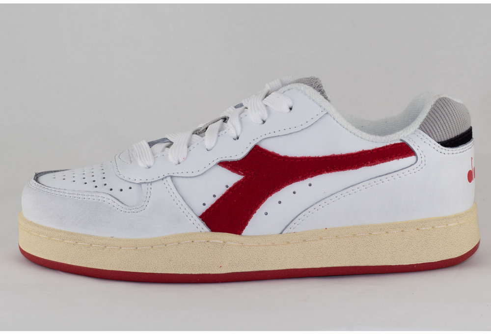 DIADORA MI BASKET LOW USED White/ Tango Red