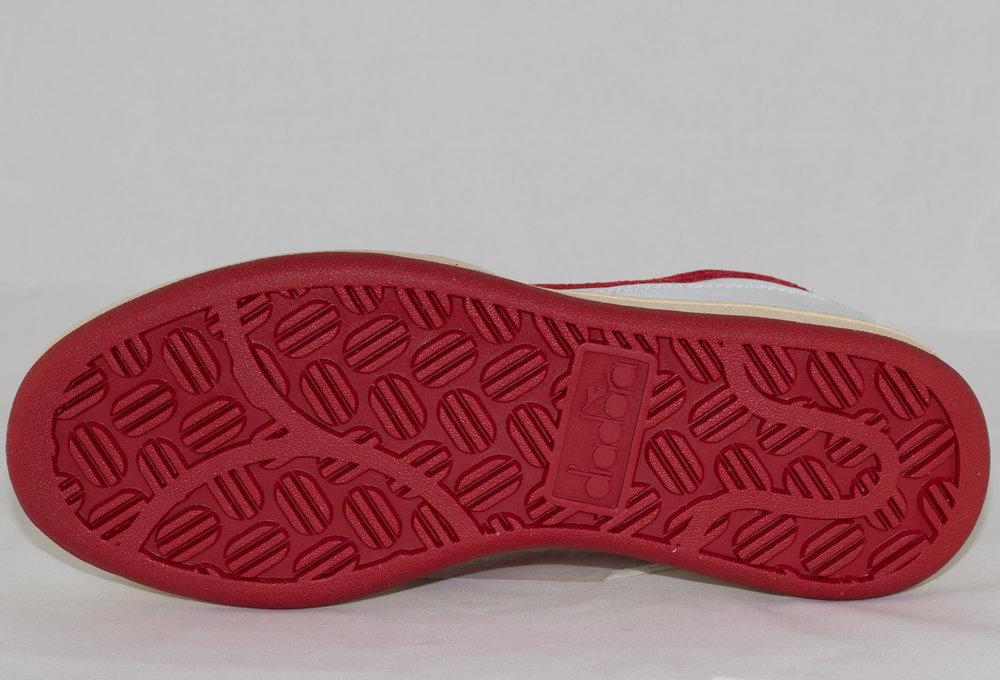 DIADORA MI BASKET LOW USED White/ Tango Red