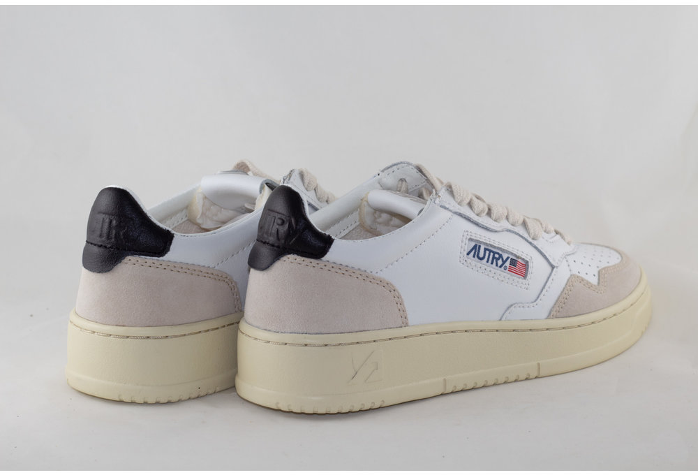 AUTRY AUTRY AULW LS21 LOW LEATHER/ SUEDE White/ Black