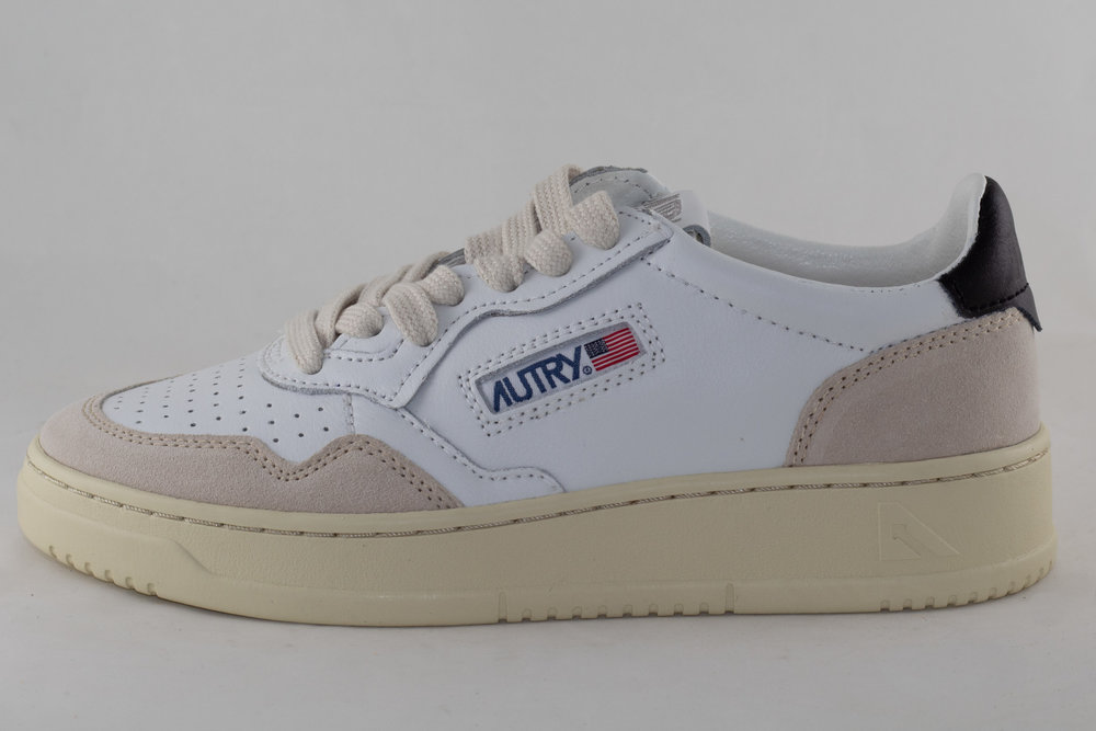 AUTRY AULW LS21 LOW LEATHER/ SUEDE White/ Black