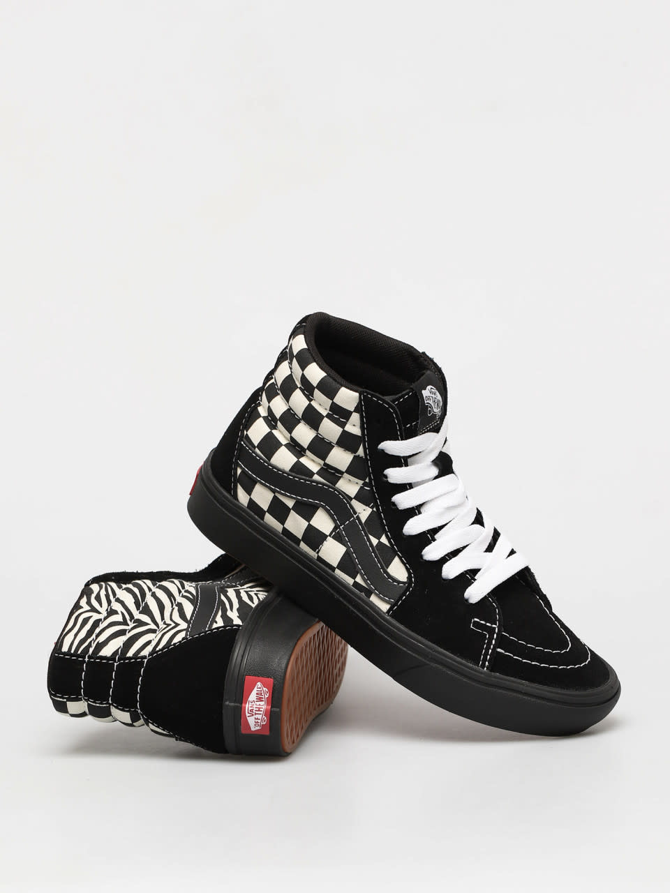 VANS SK8-HI COMFYCUSH ( Mixed Media ) Black/ White