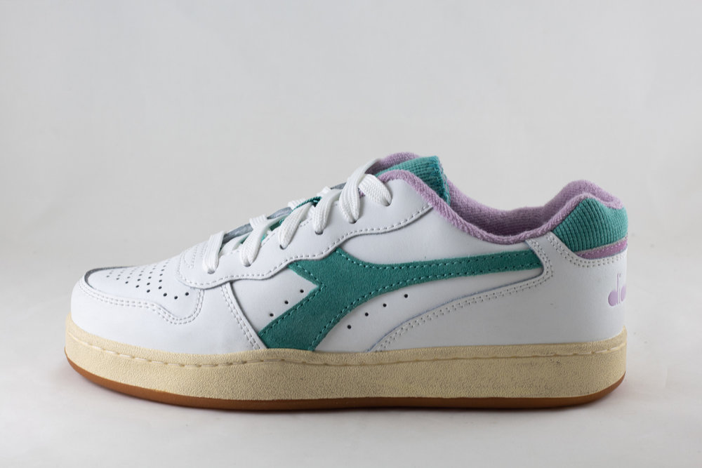 DIADORA DIADORA MI BASKET LOW USED White/ Lupine/ Blue Turquois