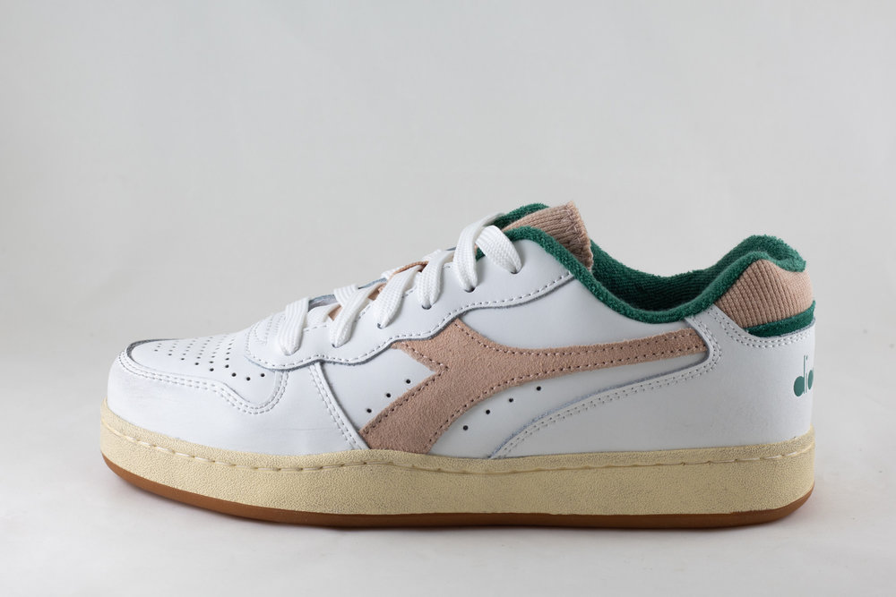 DIADORA DIADORA MI BASKET LOW USED White/ Almost Apricot