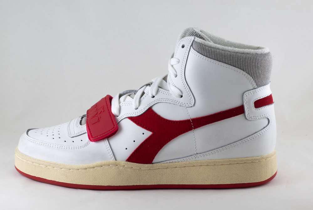 DIADORA DIADORA MI BASKET USED White/ Tango Red