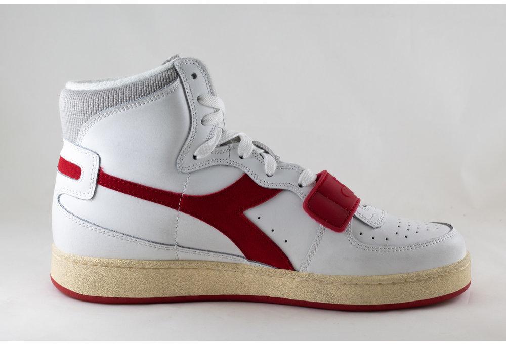 DIADORA MI BASKET USED White/ Tango Red