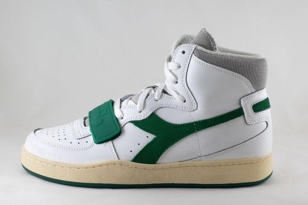 DIADORA DIADORA MI BASKET USED White/ Verdant Green