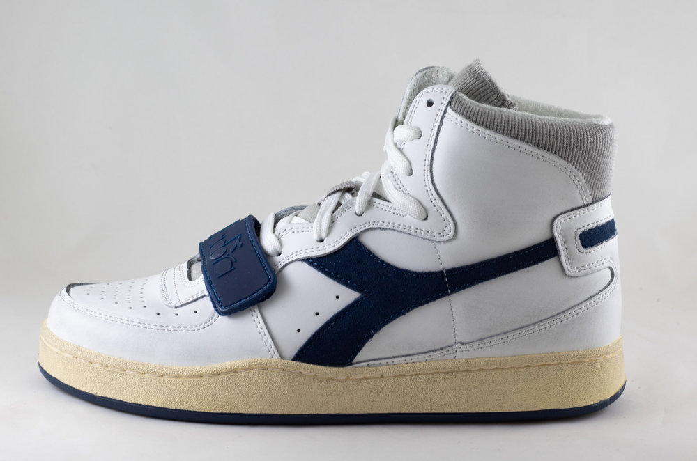 DIADORA DIADORA MI BASKET USED White/ Paloma/ Dark Denim