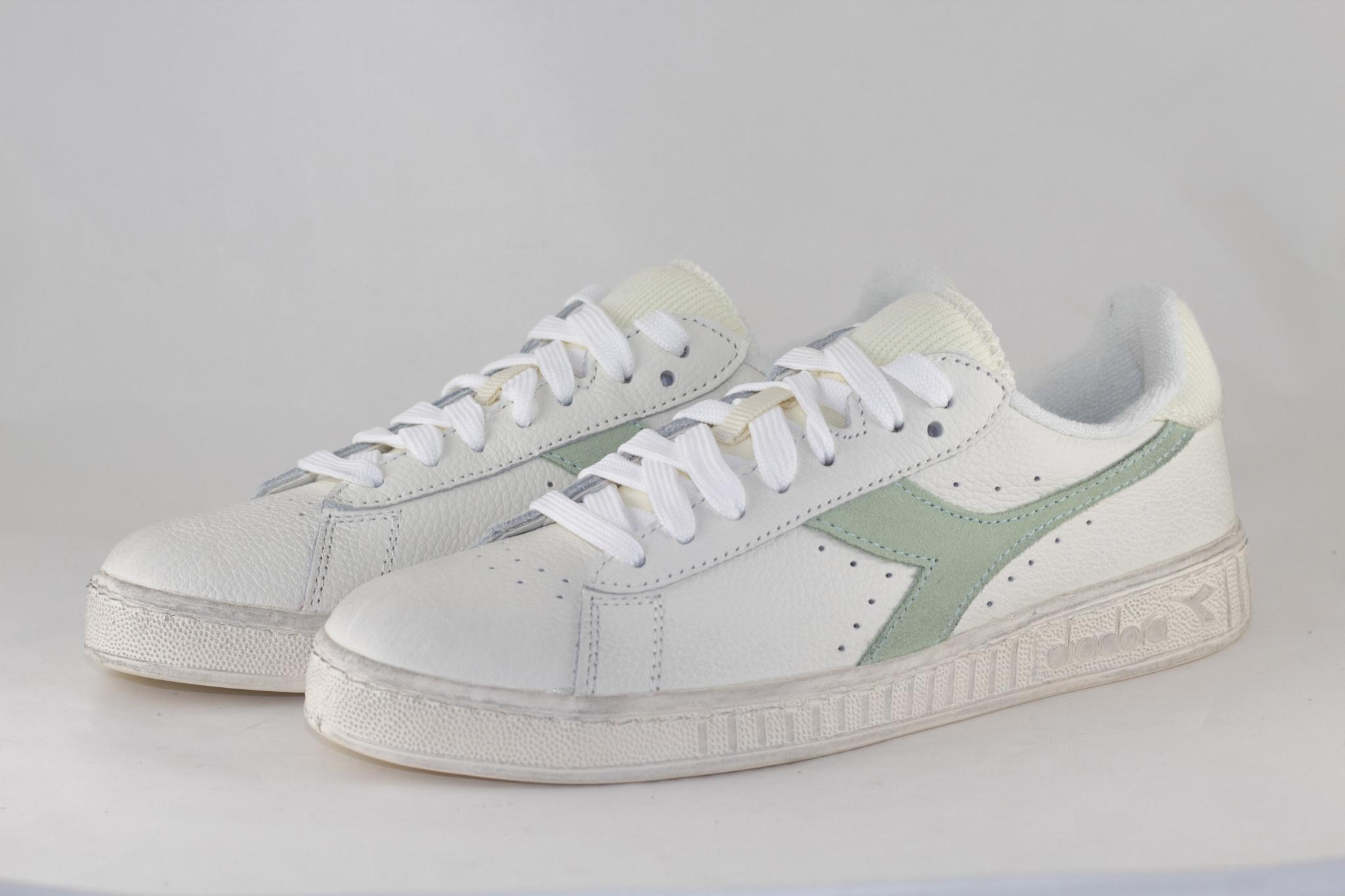 DIADORA GAME LOW ICONA WN White/ Celadon Green