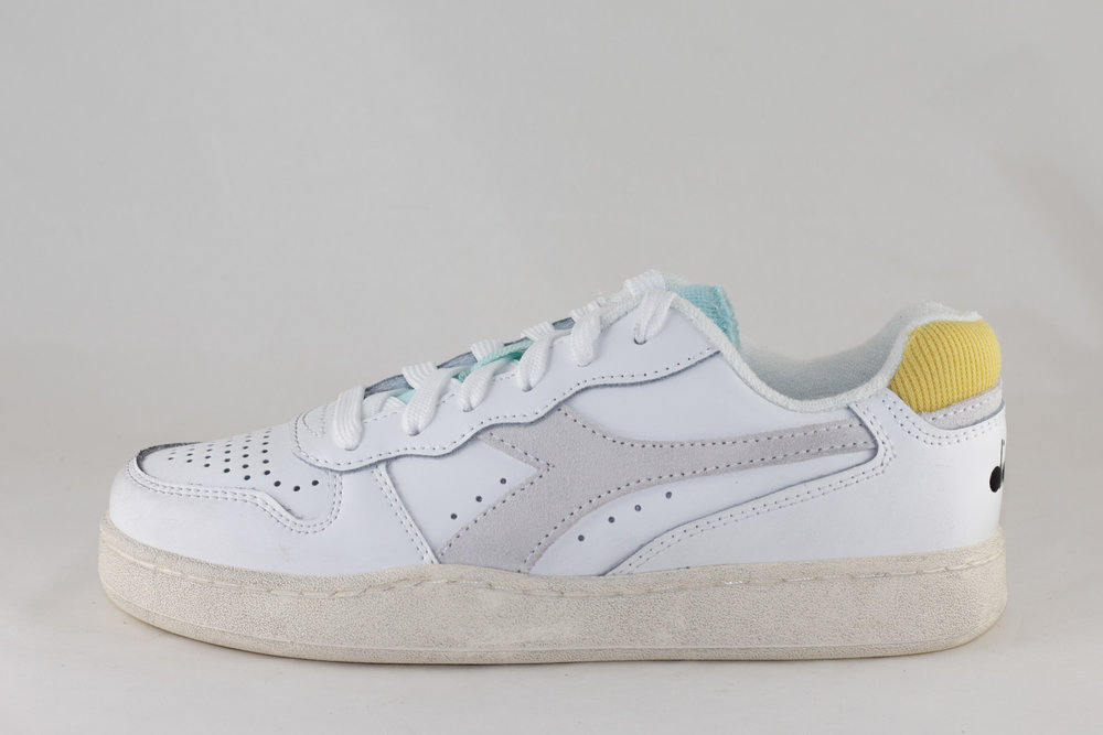 DIADORA DIADORA MI BASKET LOW ICONA WN White/ Goldfinch/ Blue Tint
