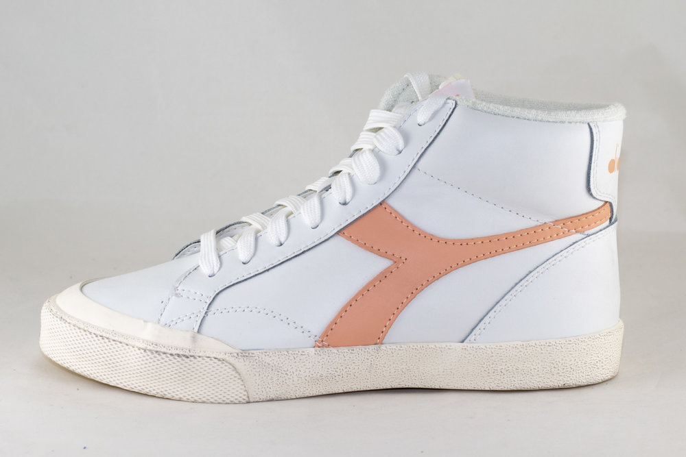 DIADORA DIADORA MELODY MID LEATHER DIRTY White/ Peach Parfait