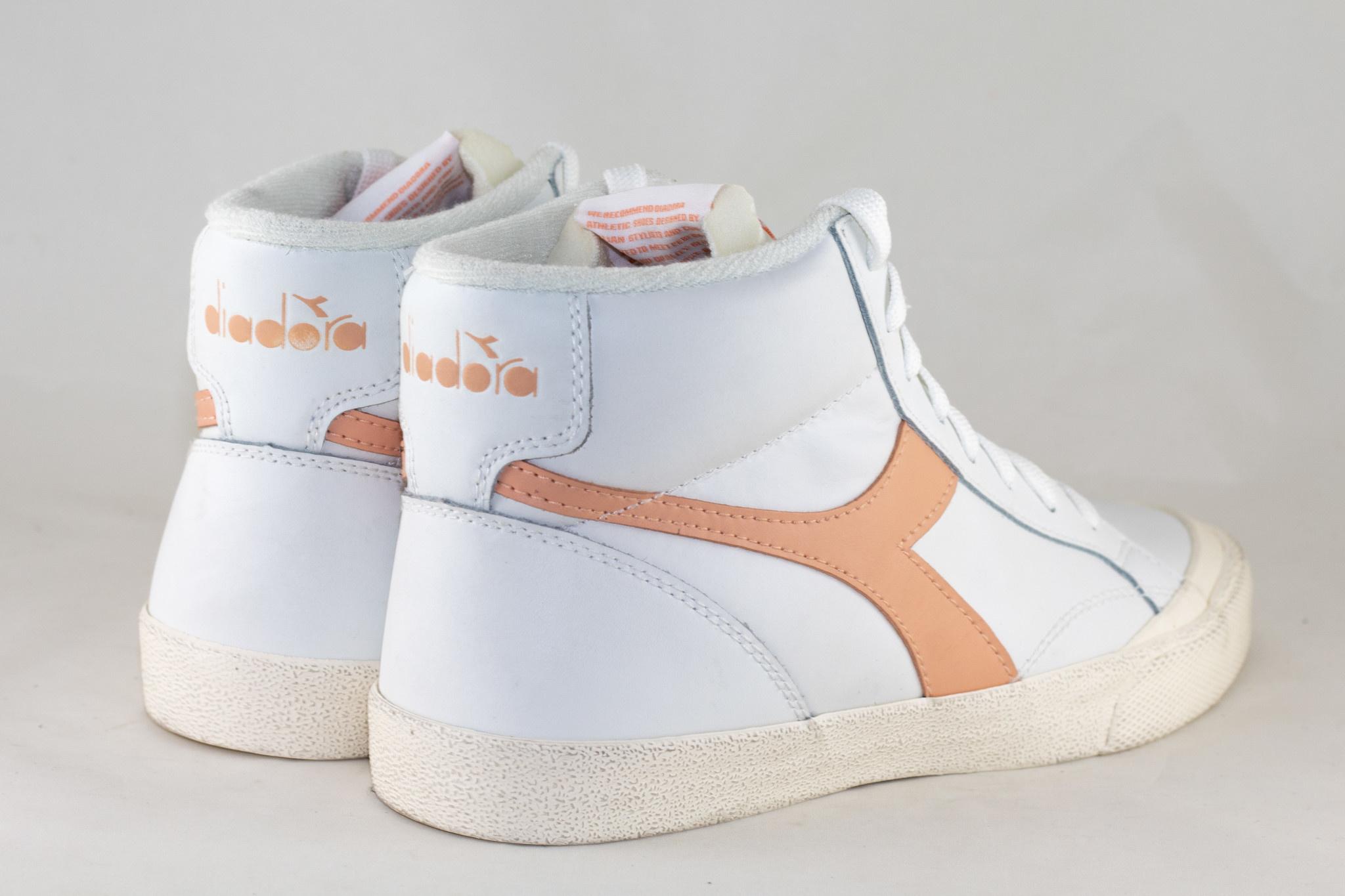 DIADORA MELODY MID LEATHER DIRTY White/ Peach Parfait