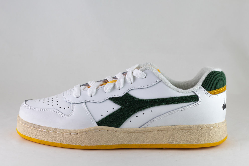 DIADORA DIADORA MI BASKET LOW ICONA White/ Greener Pastures/ Gold