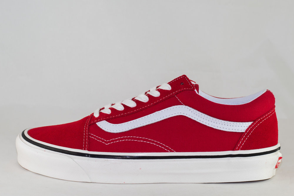 VANS VANS OLD SKOOL 36 DX (Anaheim Factory) Og Red/ Og White