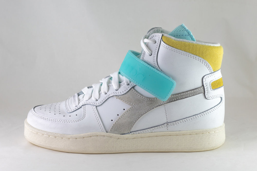 DIADORA DIADORA MI BASKET MID ICONA WN White/ Goldfinch/ Blue Tint