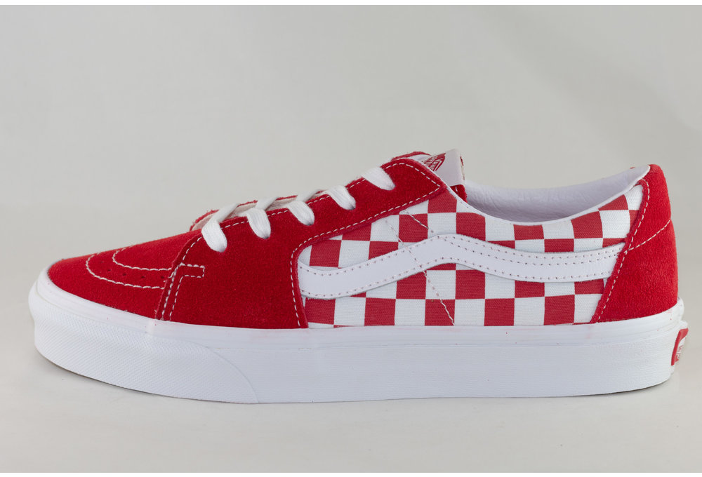 VANS SK8-LOW Racing Red/ Checkerboard