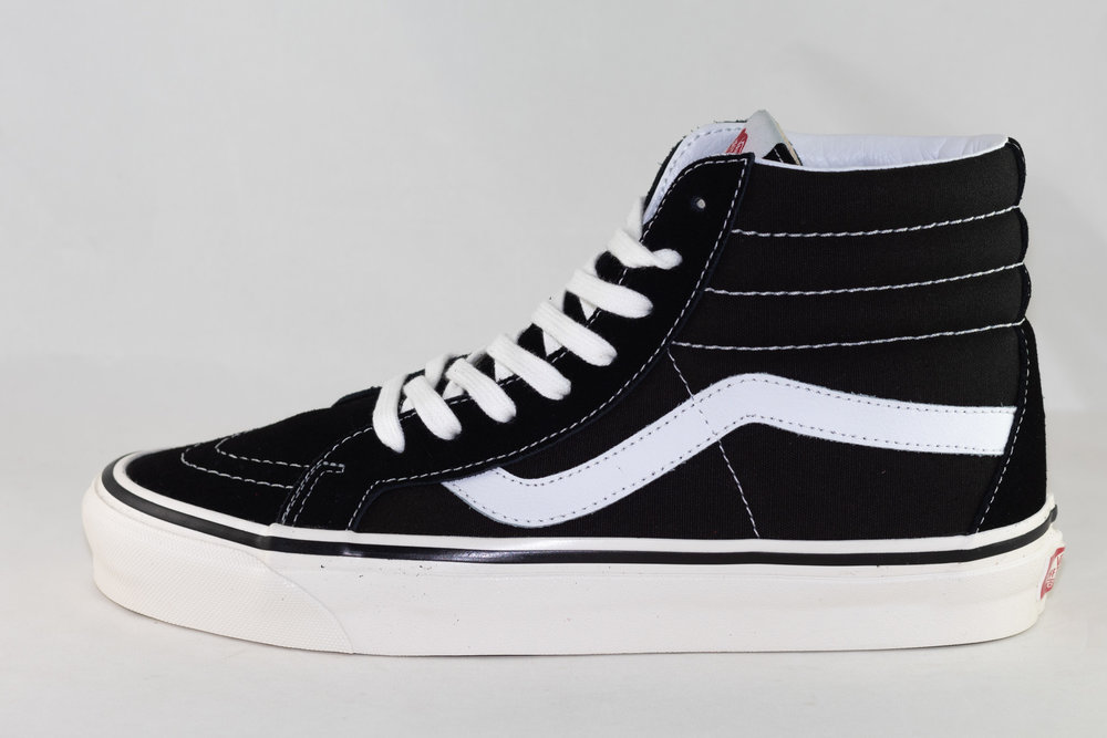 VANS VANS SK8-HI 38 DX (Anaheim Factory) Black/ True White