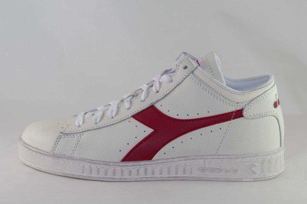 DIADORA DIADORA GAME L WAXED ROW CUT White/ Red Pepper