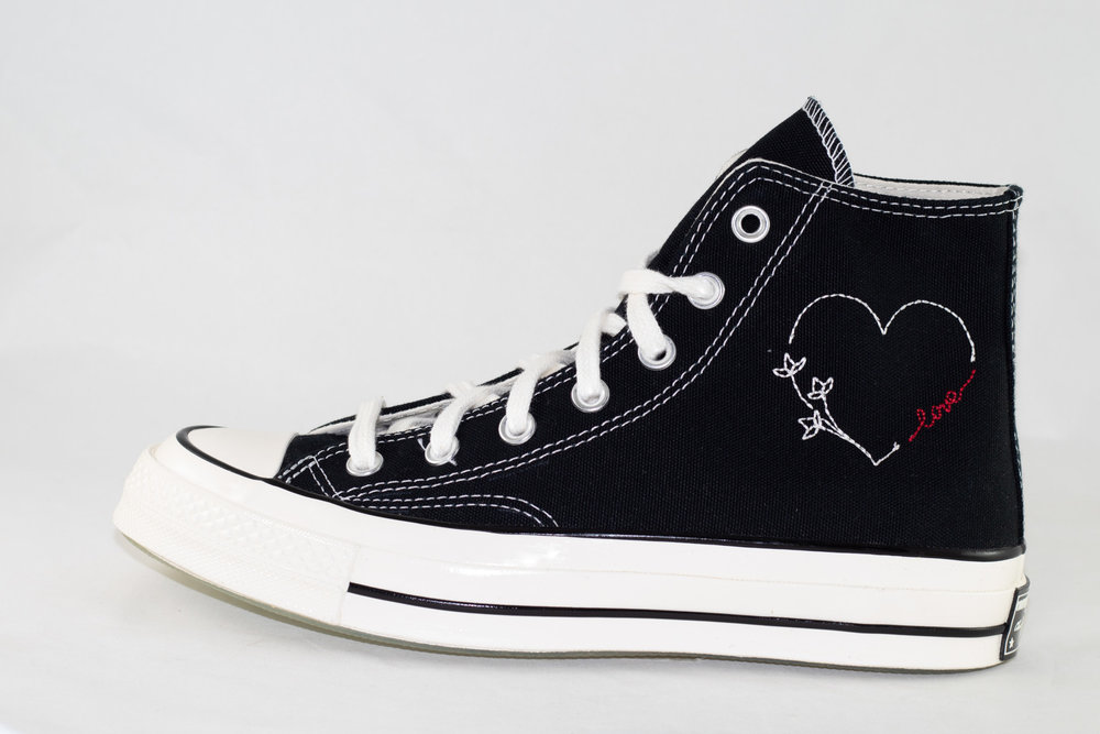 CONVERSE CONVERSE ALL STAR 70 HI Black/ Egret/ With Love