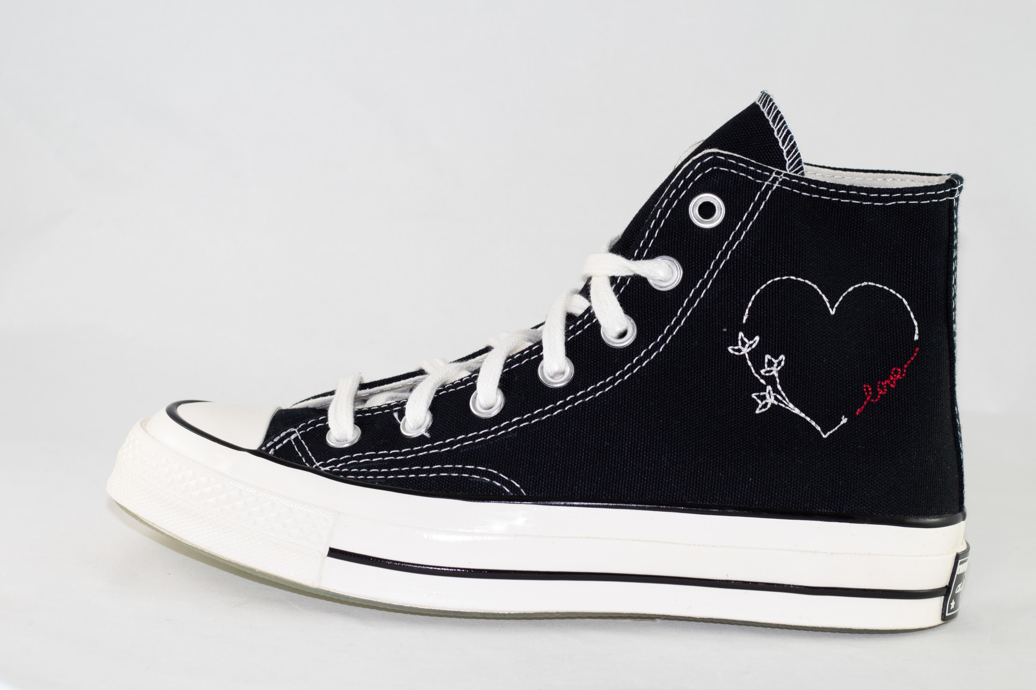 CONVERSE  ALL STAR 70 HI Black/ Egret/ With Love