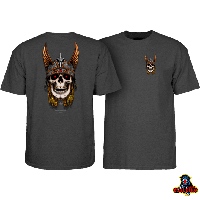 POWELL PERALTA POWELL T-SHIRT ANDY ANDERSON SKULL Charcoal Heather