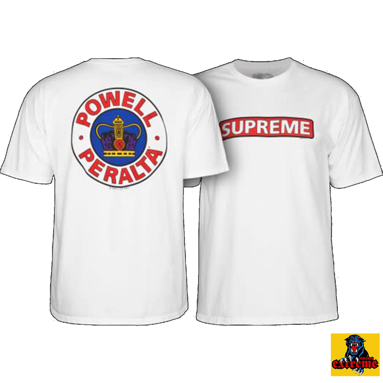 POWELL PERALTA T-SHIRT SUPREME White