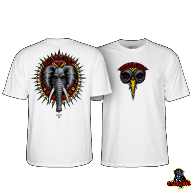 POWELL PERALTA POWELL PERALTA T-SHIRT MIKE VALLELY ELEPHANT White