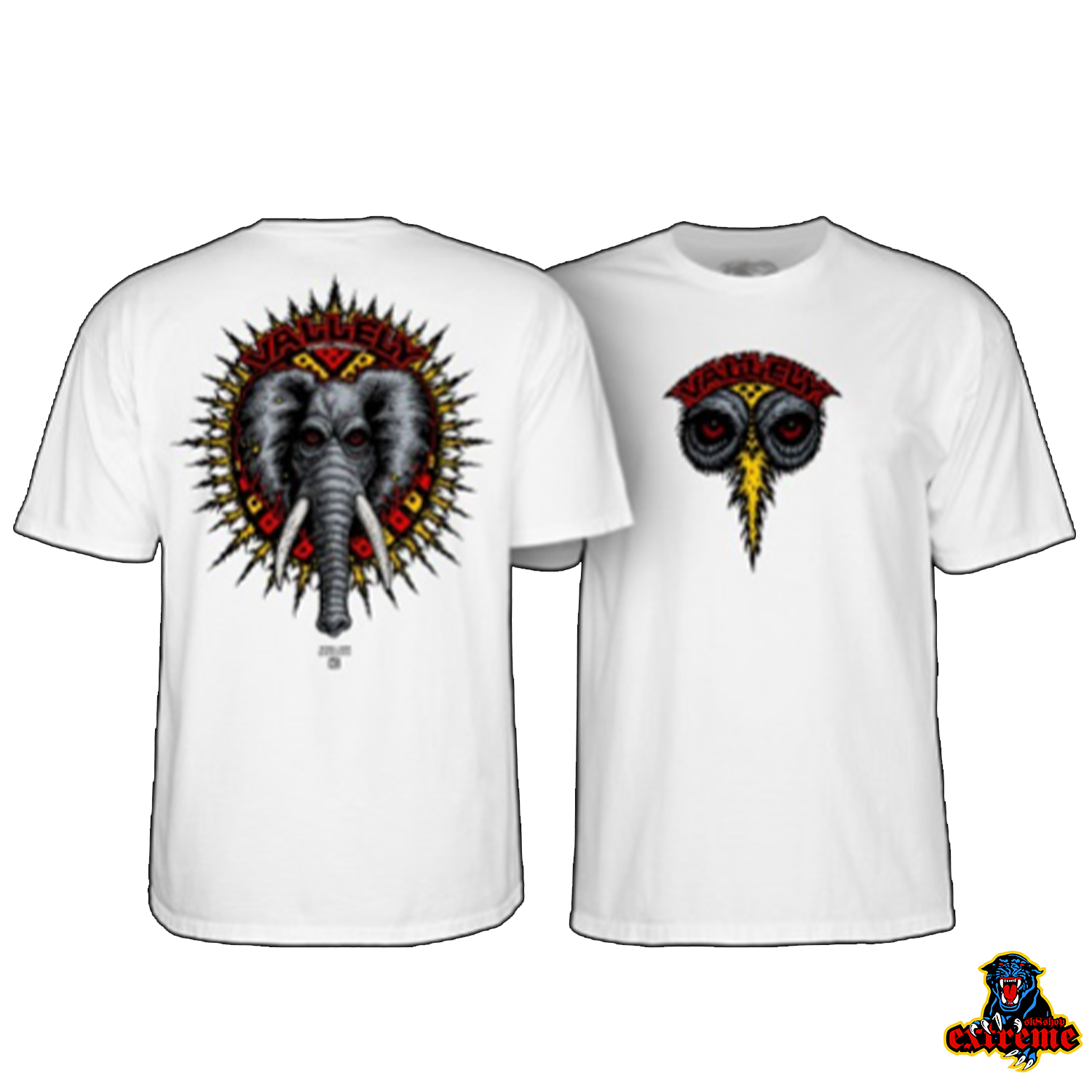 POWELL PERALTA T-SHIRT MIKE VALLELY ELEPHANT White