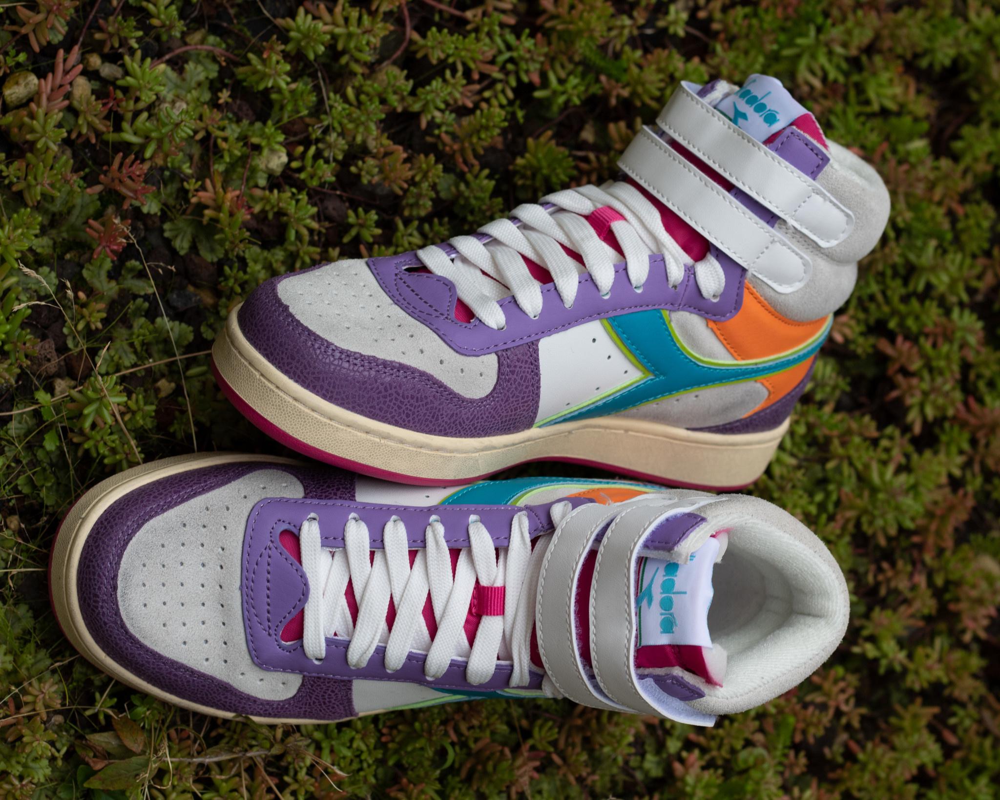 DIADORA MAGIC BASKET  MID  ICONA English Lavender/ White