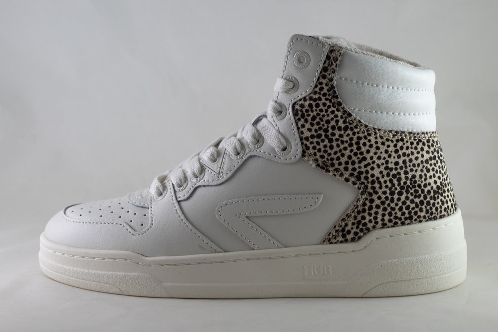 HUB HUB COURT -Z HIGH L59 Off White/ Off White/ Cheetah/ Ivory