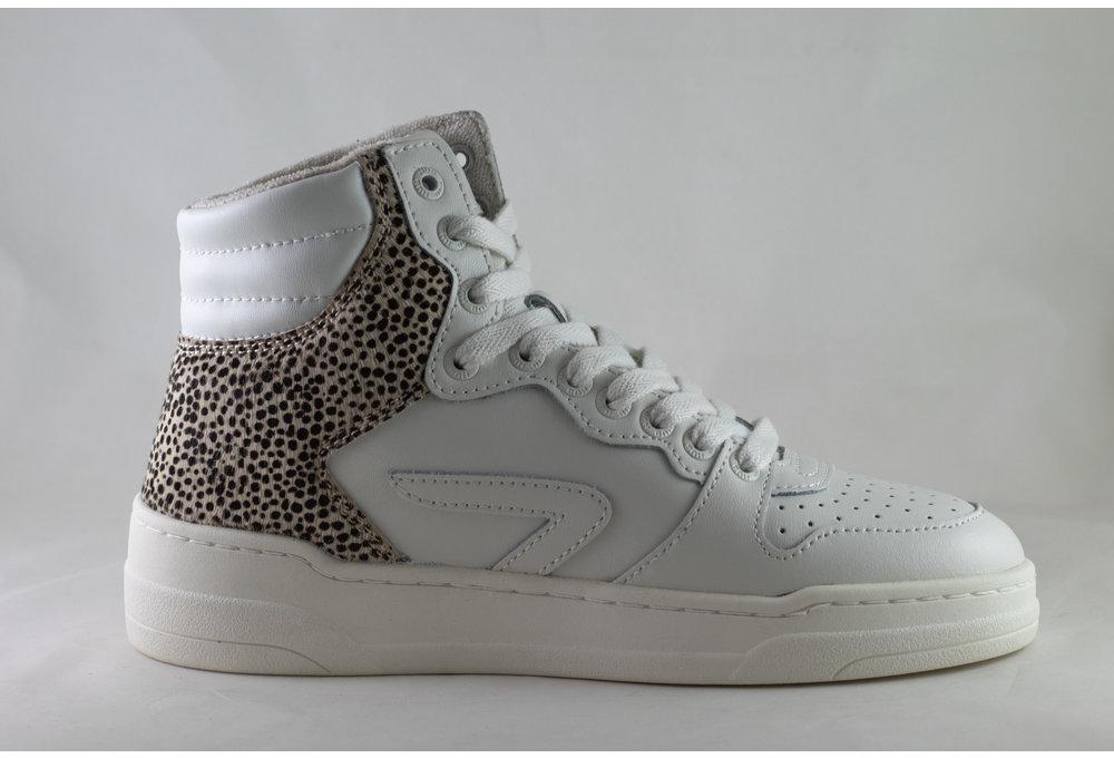 HUB COURT -Z HIGH L59 Off White/ Off White/ Cheetah/ Ivory