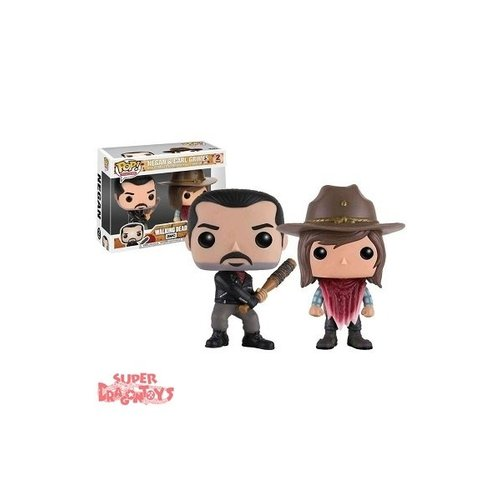 WALKING DEAD - NEGAN & CARL GRIMES - FUNKO POP EXCLUSIVE