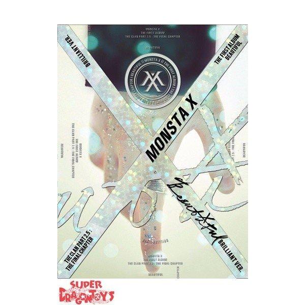 """MONSTA X - BEAUTIFUL - 1ST ALBUM - """"BRILLIANT"""" VERSION"""