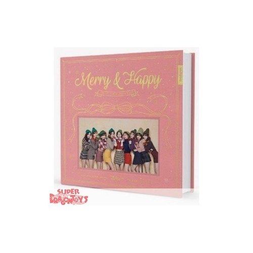 """TWICE - MERRY & HAPPY - """"HAPPY"""" VERSION - 1ST REPACKAGE ALBUM"""