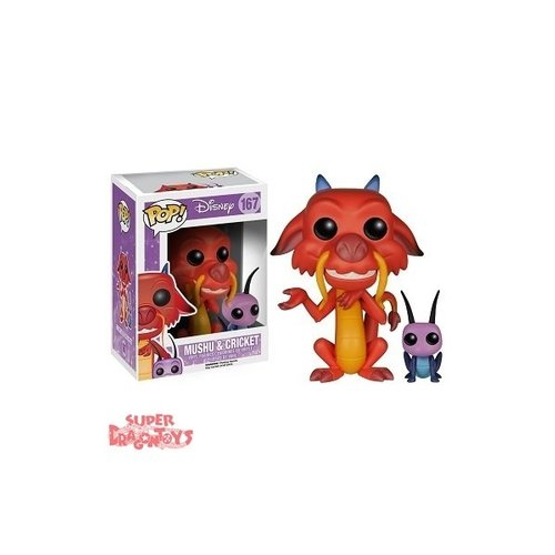 FUNKO  MULAN - MUSHU & CRICKET - FUNKO POP