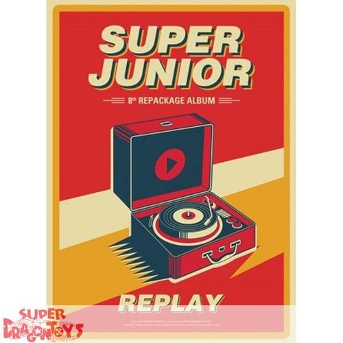 SUPER JUNIOR - REPLAY - 8TH [REPACKAGE] ALBUM