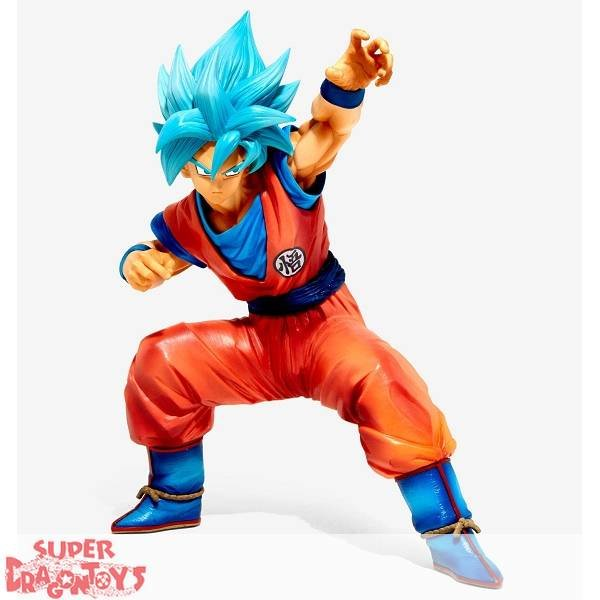 """BANPRESTO  DRAGON BALL SUPER - SUPER SAIYAN GOD SUPER SAIYAN GOKU - """"KING CLUSTAR"""" BIG SIZE FIGURE"""
