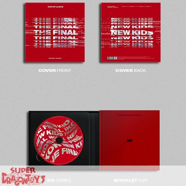 IKON - NEW KIDS : THE FINAL - [REDOUT] VERSION - EP ALBUM + FREE OFFICIAL POSTER