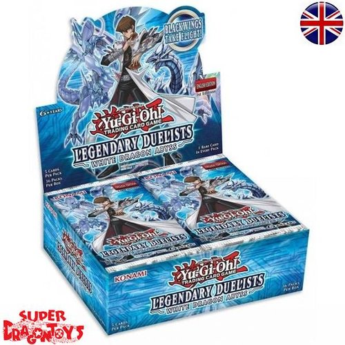 "KONAMI YUGIOH TCG - DISPLAY [36 BOOSTERS] ""LEGENDARY DUELISTS - WHITE DRAGON ABYSS"" - ENGLISH EDITION"