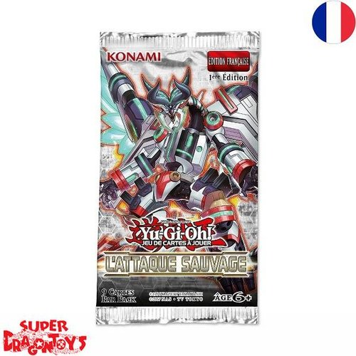 "KONAMI YUGIOH TCG - BOOSTER ""L'ATTAQUE SAUVAGE"" - EDITION FRANCAISE"