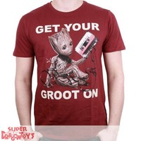 "TSHIRT - LES GARDIENS DE LA GALAXIE ""GET YOUR GROOT ON"""