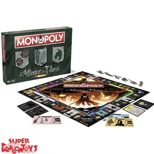 "ATTACK ON TITANS  - MONOPOLY ""ATTACK ON TITANS"" - EDITION FRANCAISE"