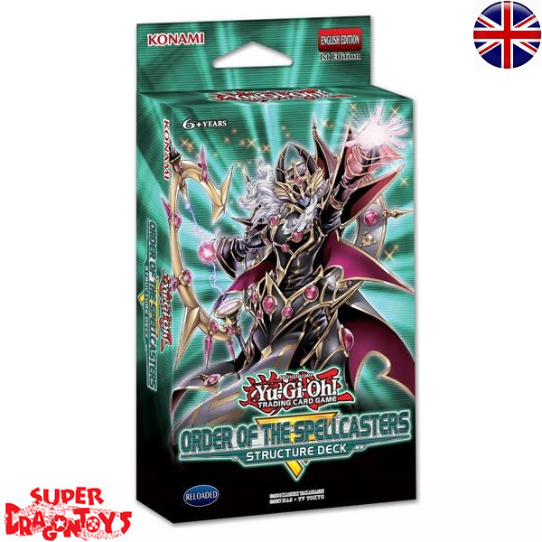 """KONAMI YUGIOH TCG - STRUCTURE DECK """"ORDER OF THE SPELLCASTERS"""" - ENGLISH EDITION"""