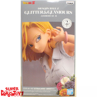 """BANDAI DRAGON BALL Z - ANDROID 18 [WHITE TOP] - """"GLITTER & GLAMOURS"""" [2ND VERSION] COLLECTION"""