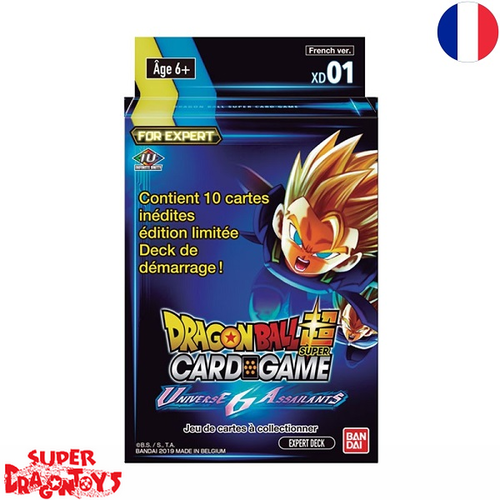 "DRAGON BALL SUPER TCG - EXPERT DECK ""UNIVERSE 6 ASSAILANTS"" - EDITION FRANCAISE"