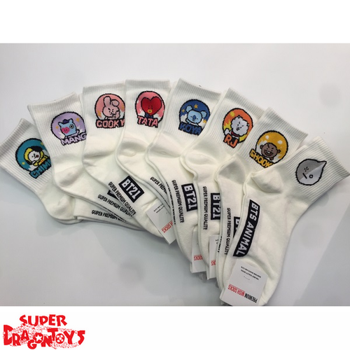BTS - (LONG) PAIR OF SOCKS - BT21 COLLECTION